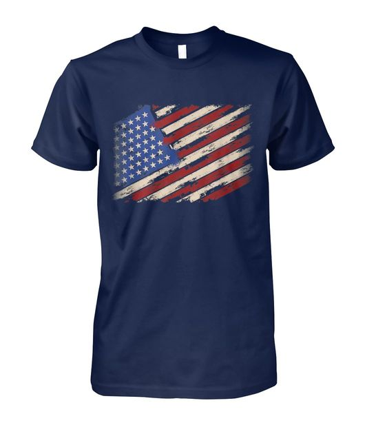 Distressed american Us flag vintage retro look 4th of july shirt