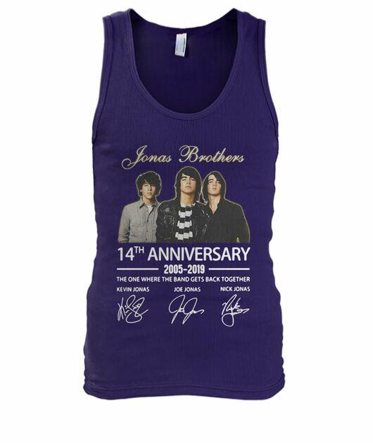 Jonas brothers 14th anniversary 2005 2019 signatures shirt