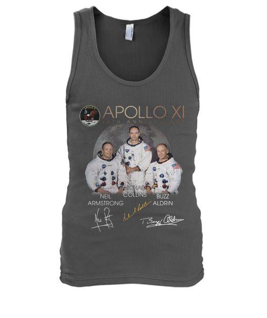 Apollo 11 50th anniversary neil armstrong michael collins buzz aldrin signatures shirt