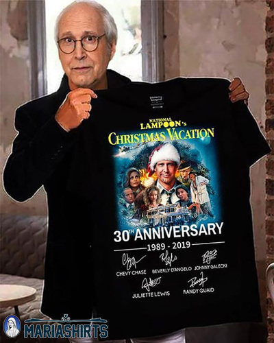 National lampoon's christmas vacation 30th anniversary 1989-2019 signatures shirt