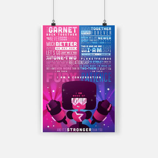 Steven universe crystal gems cartoon quote poster