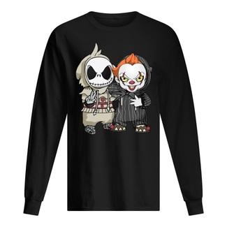 Halloween jack skellington and pennywise shirt