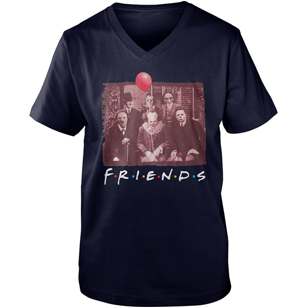 Horror movie characters Friends shirt