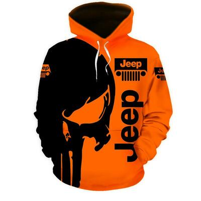 Jeep skull 3d hoodie, 3d polo and 3d long-pant