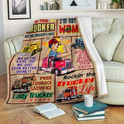 Lady trucker I'm the trucker not the trucker's wife blanket