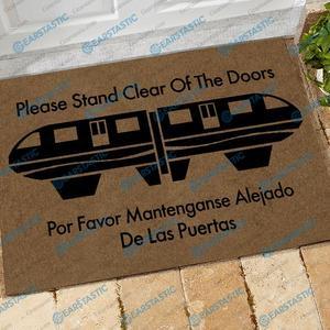 Please stand clear of the doors doormat
