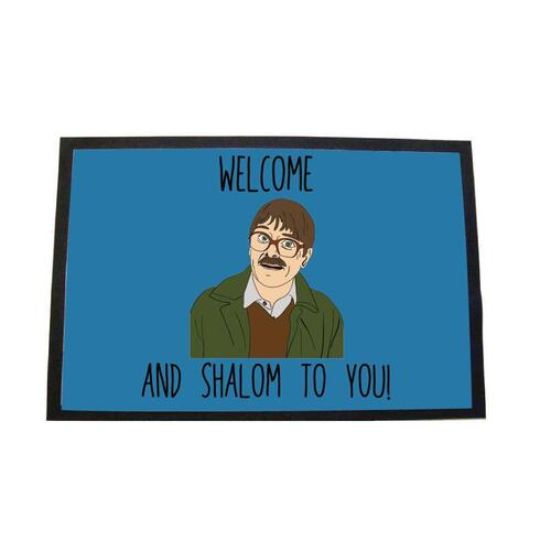Friday night dinner welome and shalom to you door mat