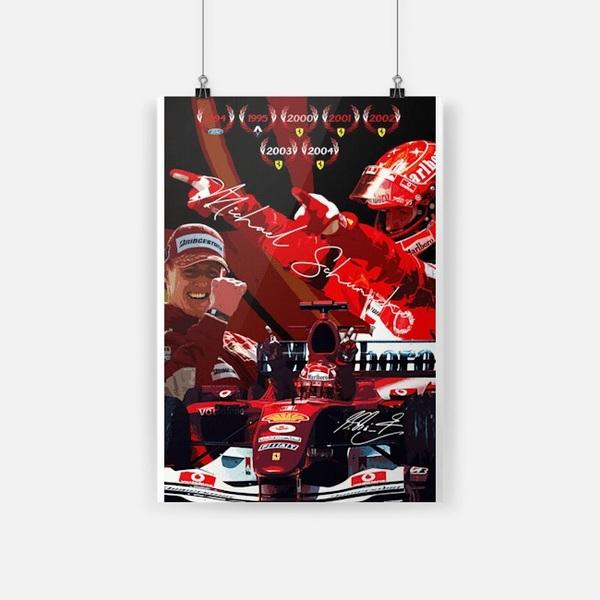 Michael Schumacher Ferrari F1 poster