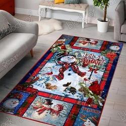 Snowman let it snow christmas living room rug