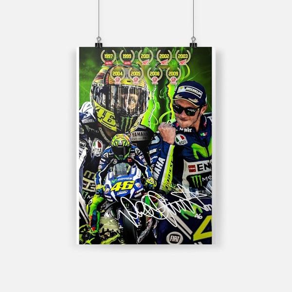 Valentino Rossi 46 signature poster