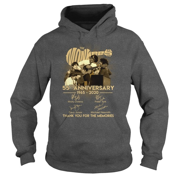 The Monkees 55th anniversary 1965-2020 signature hoodie