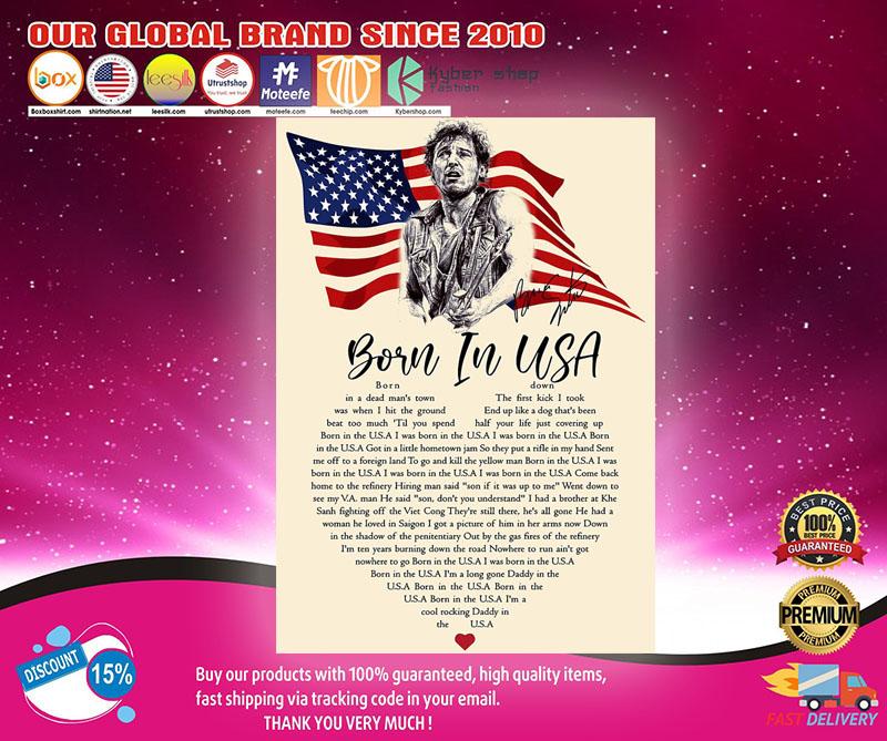 Bruce springsteen born in the USA Lyrics poster