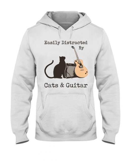 Easily distracted by cats and Guitar shirt,tank top, hoodie
