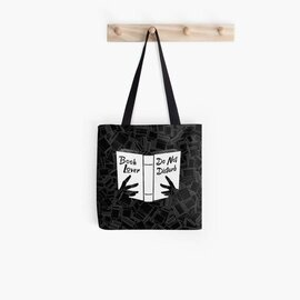Top collection  book lover do not disturb all over printed tote bag