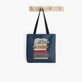 Top collection  book lovers reading how to chill like a cat tote bag