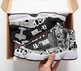 Top collection  viking fathor all over printed air jordan 13 sneakers
