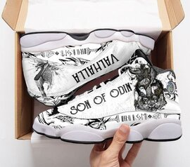 Top collection  viking sons of odin valhalla air jordan 13 sneakers