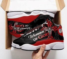 Top collection  woman of God all over print air jordan 13 sneakers