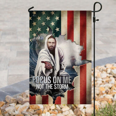 Top collection God focus on me not the storm american flag all over print flag