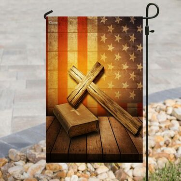 Top collection Jesus cross american flag all over print flag