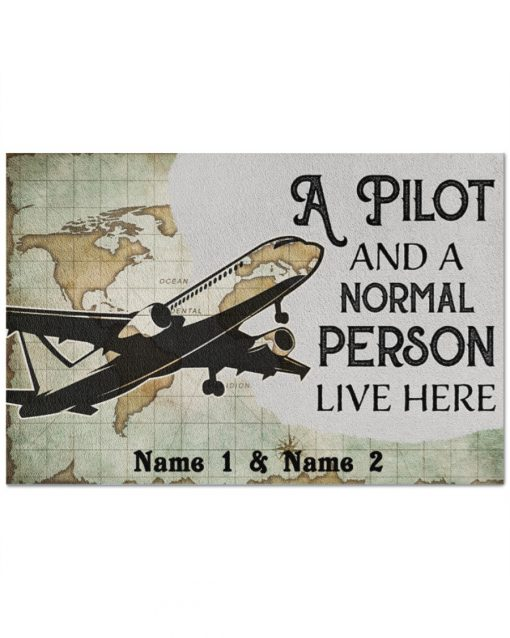 Personalized-A-pilot-and-a-normal-person-live-here-doormat-510x638