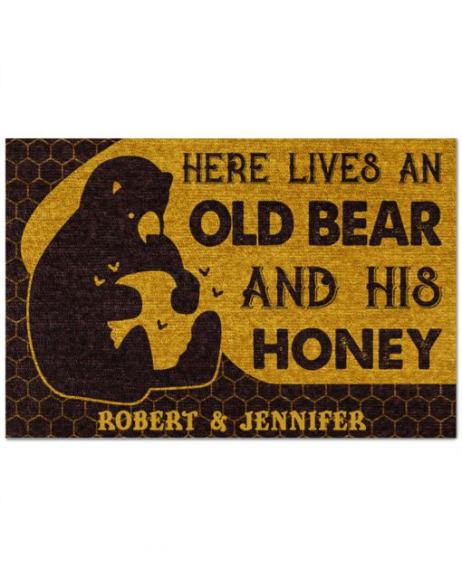 Personalized-Here-lives-an-old-bear-and-his-honey-doormat-510x638