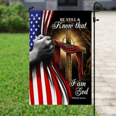 Top collection american flag be still and know that i am God all over print flag