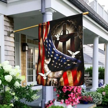 Top collection american flag christian cross flag all over print flag