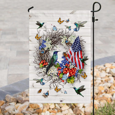 Top collection american flag the hummingbird all over print flag