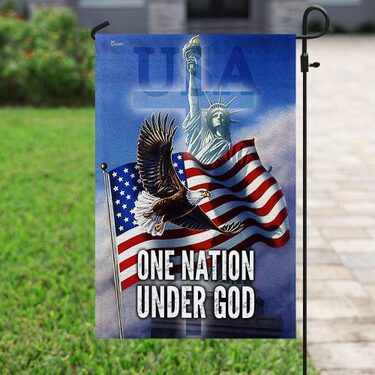 Top collection eagle american flag one nation under God all over print flag