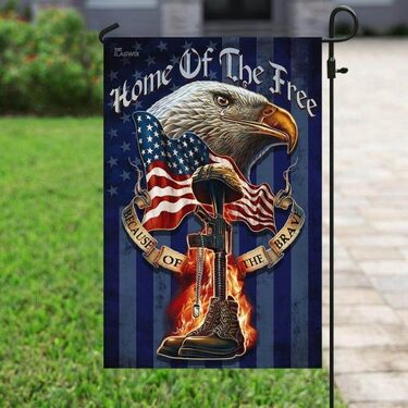 Top collection home of the free because of the brave veteran flag