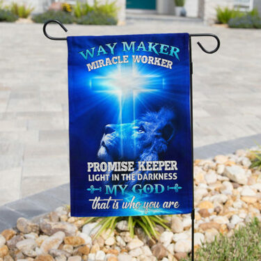 Top collection lion way maker miracle worker my God all over print flag
