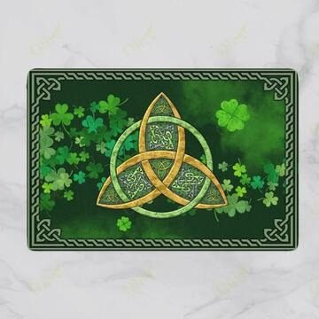 saint patricks day symbol vintage doormat