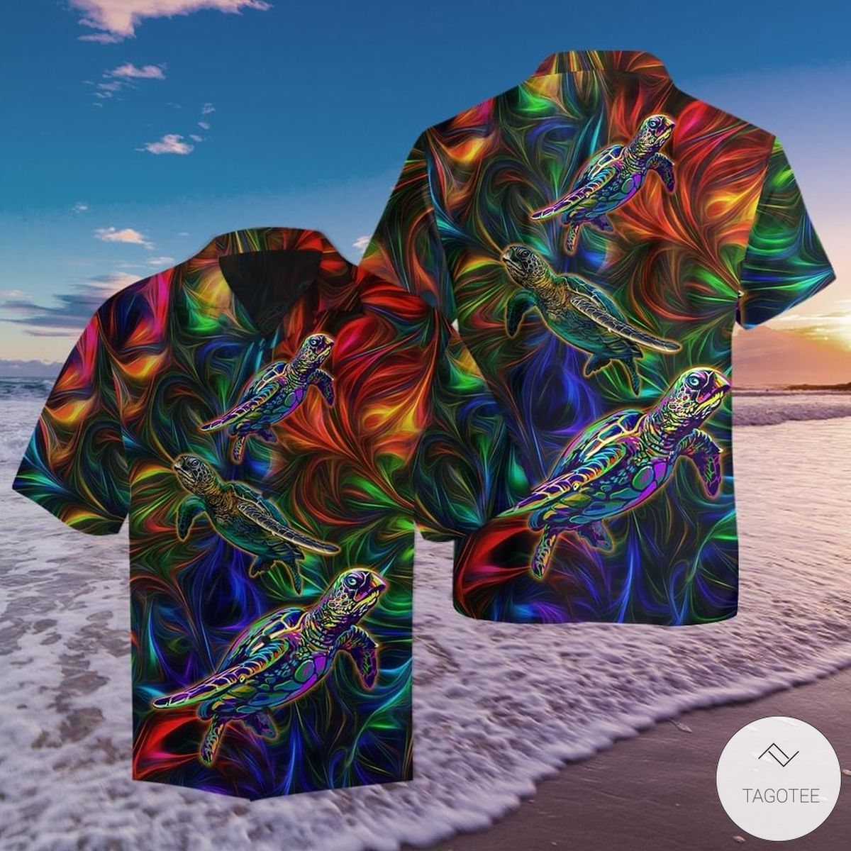 Colorful-Turtle-Pattern-Hawaiian-Shirt