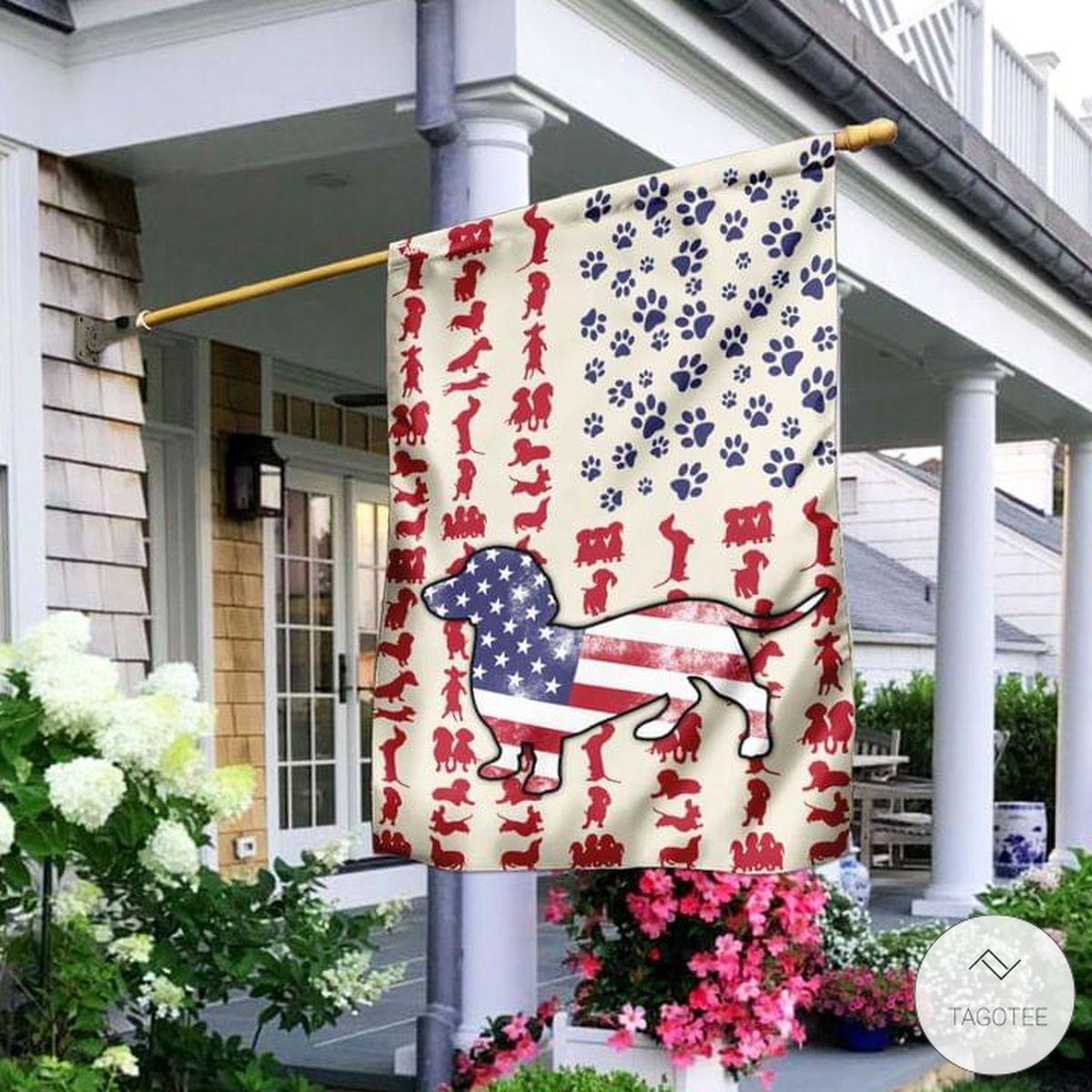 Dachshund-US-Flag