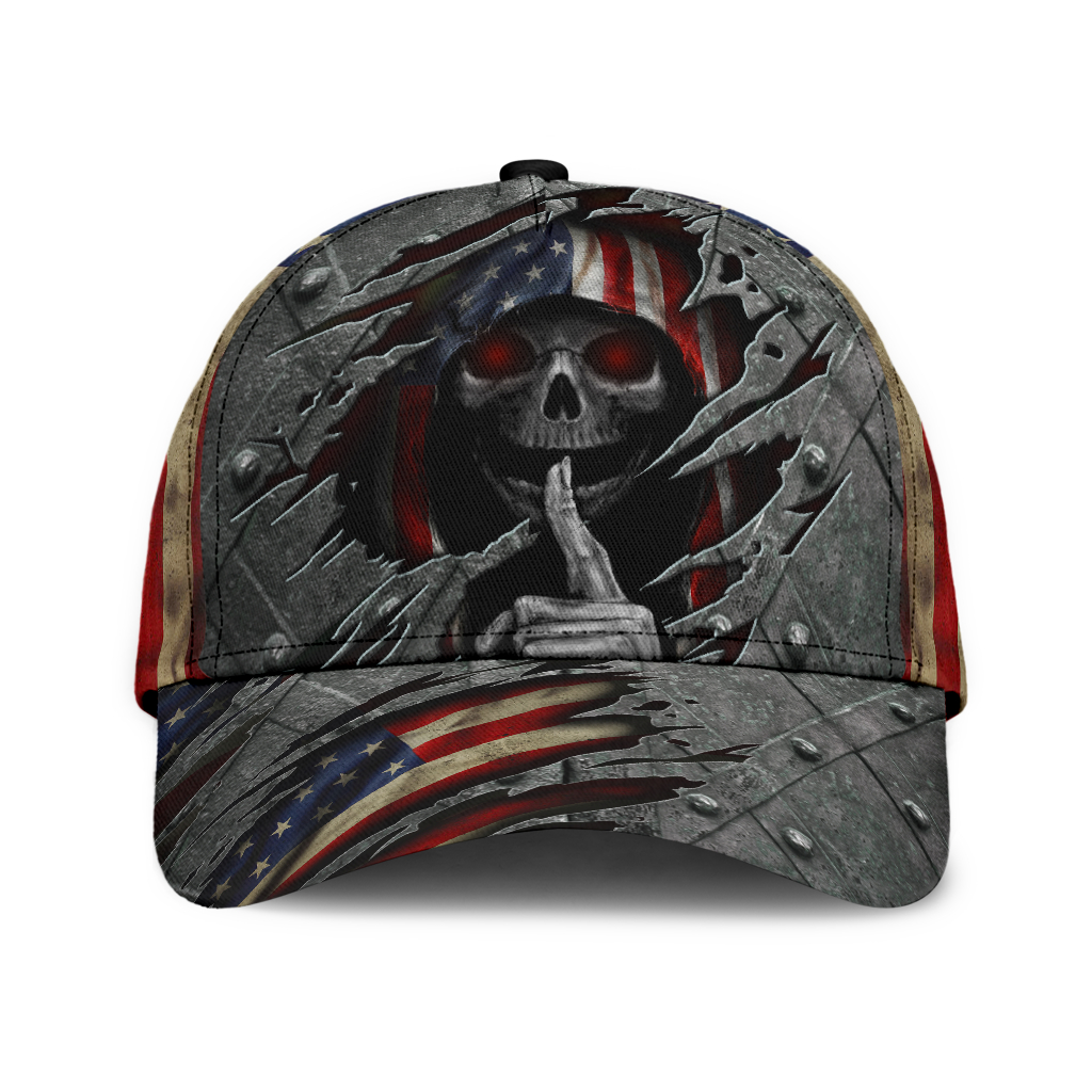 Skull-American-Flag-3D-Cap