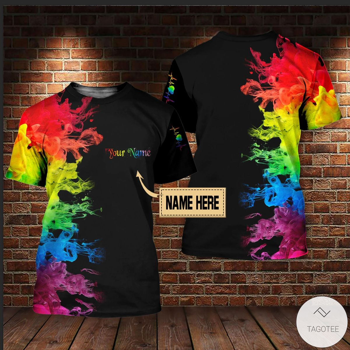 Personalized LGBT Colorful Smoke 3D All Over Print T-shirt, Hoodie