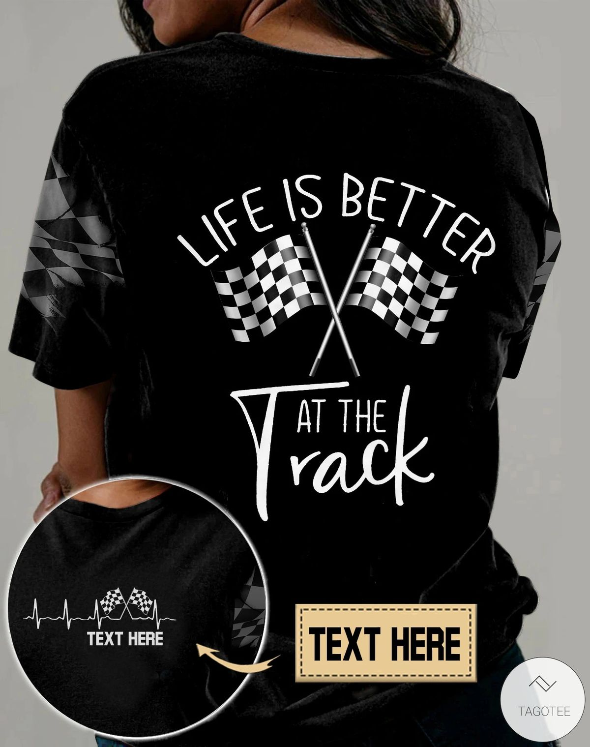 Personalized Life Is Better At The Track Racing 3D All Over Print T-shirt, Hoodie