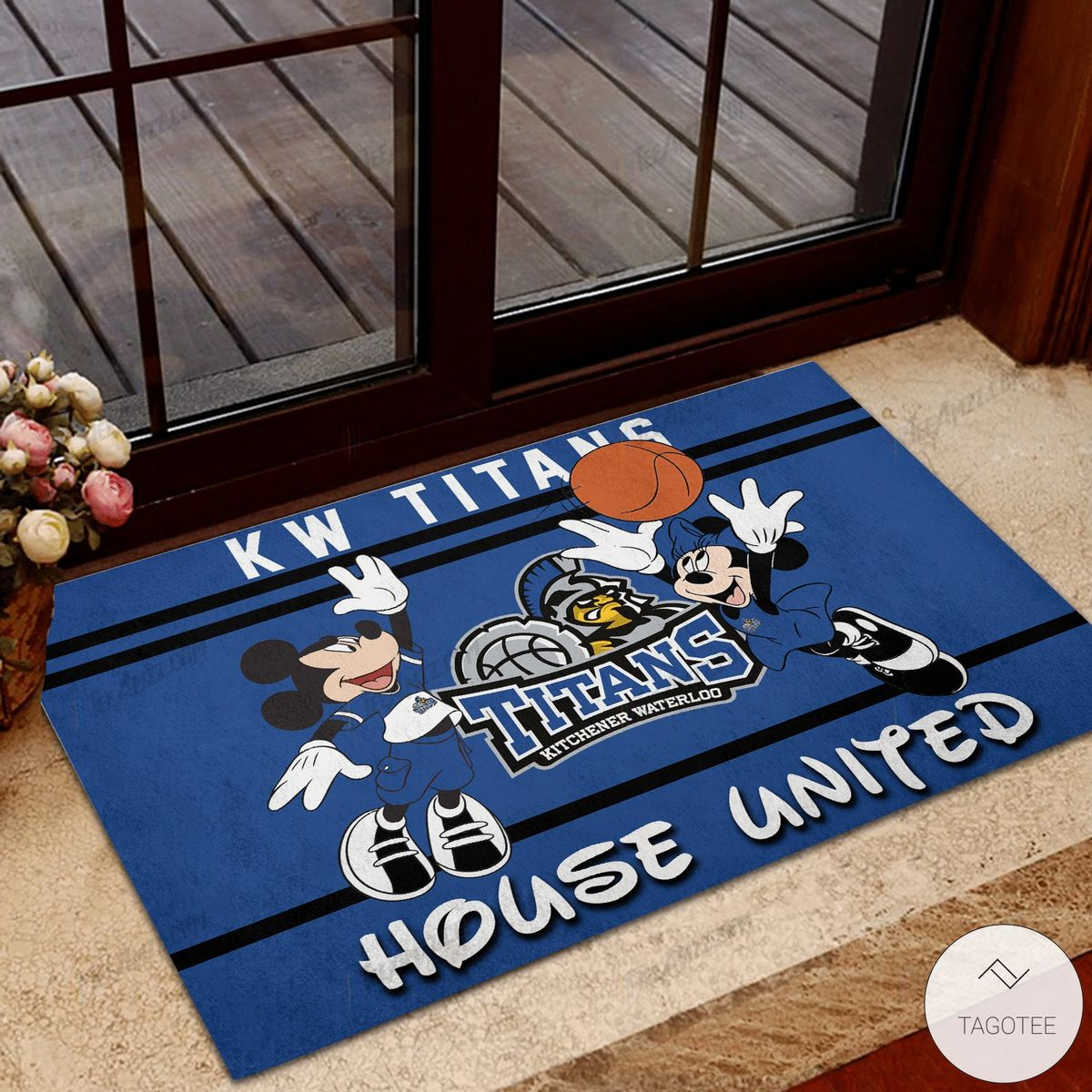 KW Titans Kitchener Waterloo House United Mickey Mouse And Minnie Mouse Doormat
