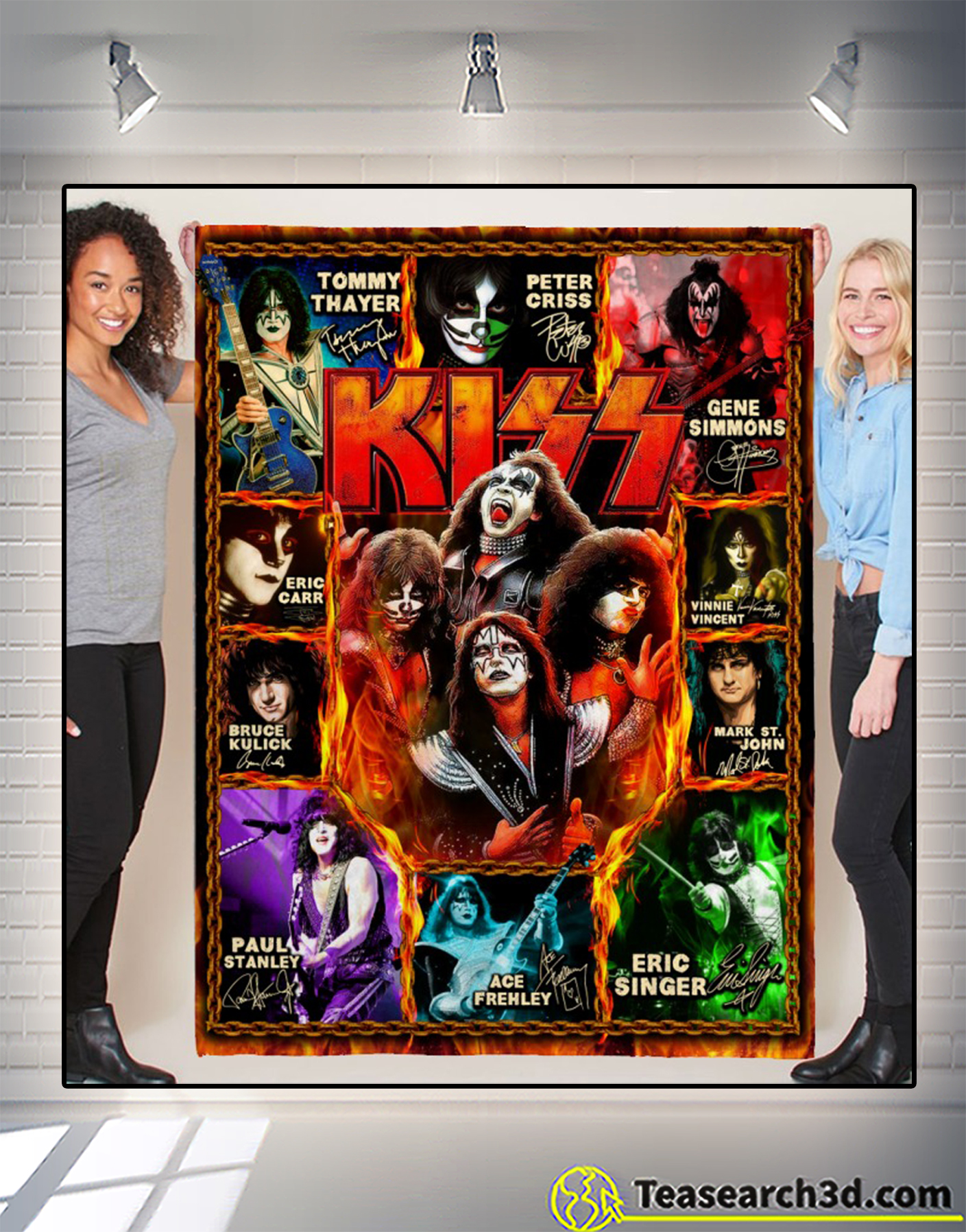 Kiss artists signature blanket