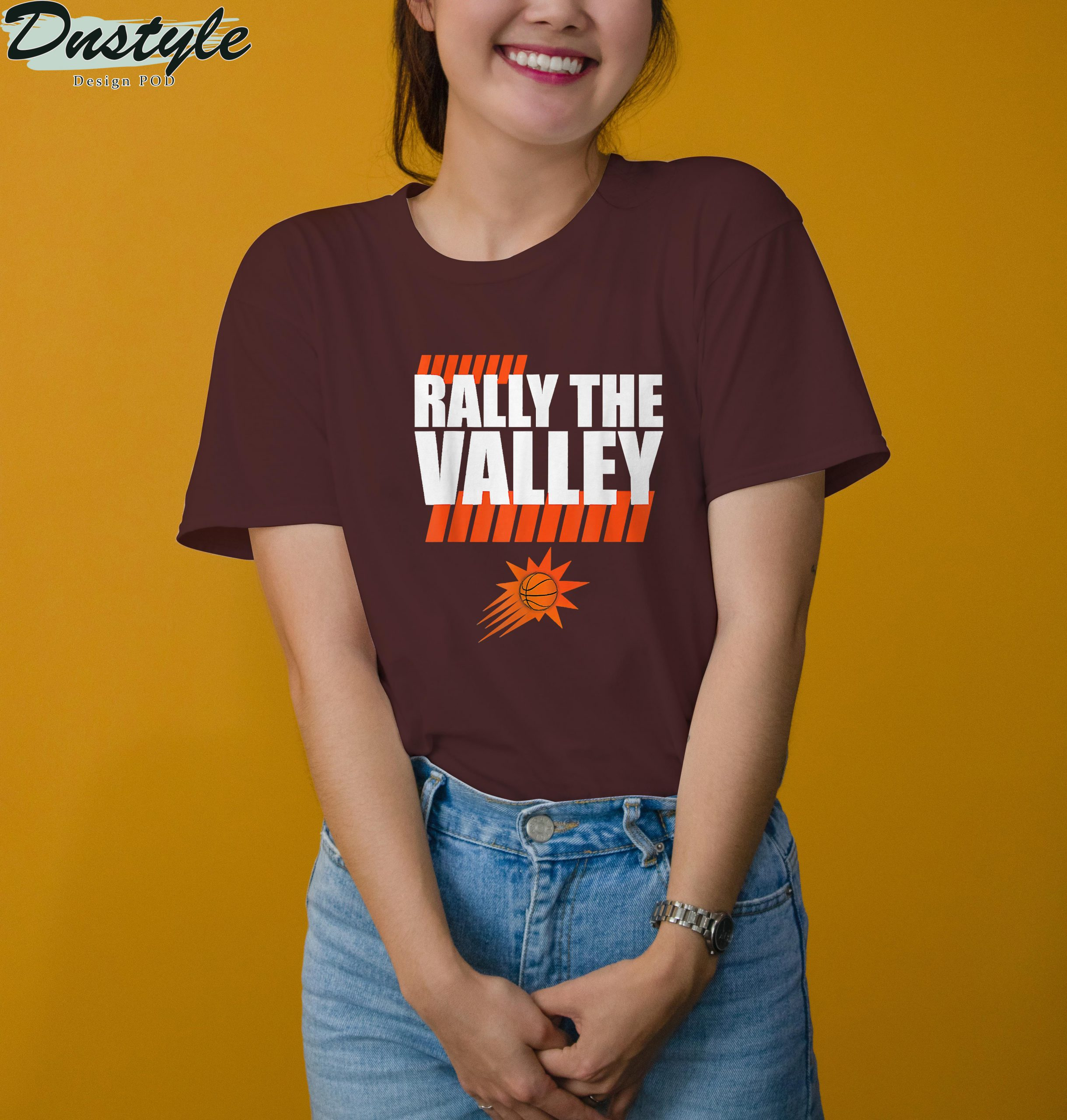 Rally the valley basketball t-shirt
