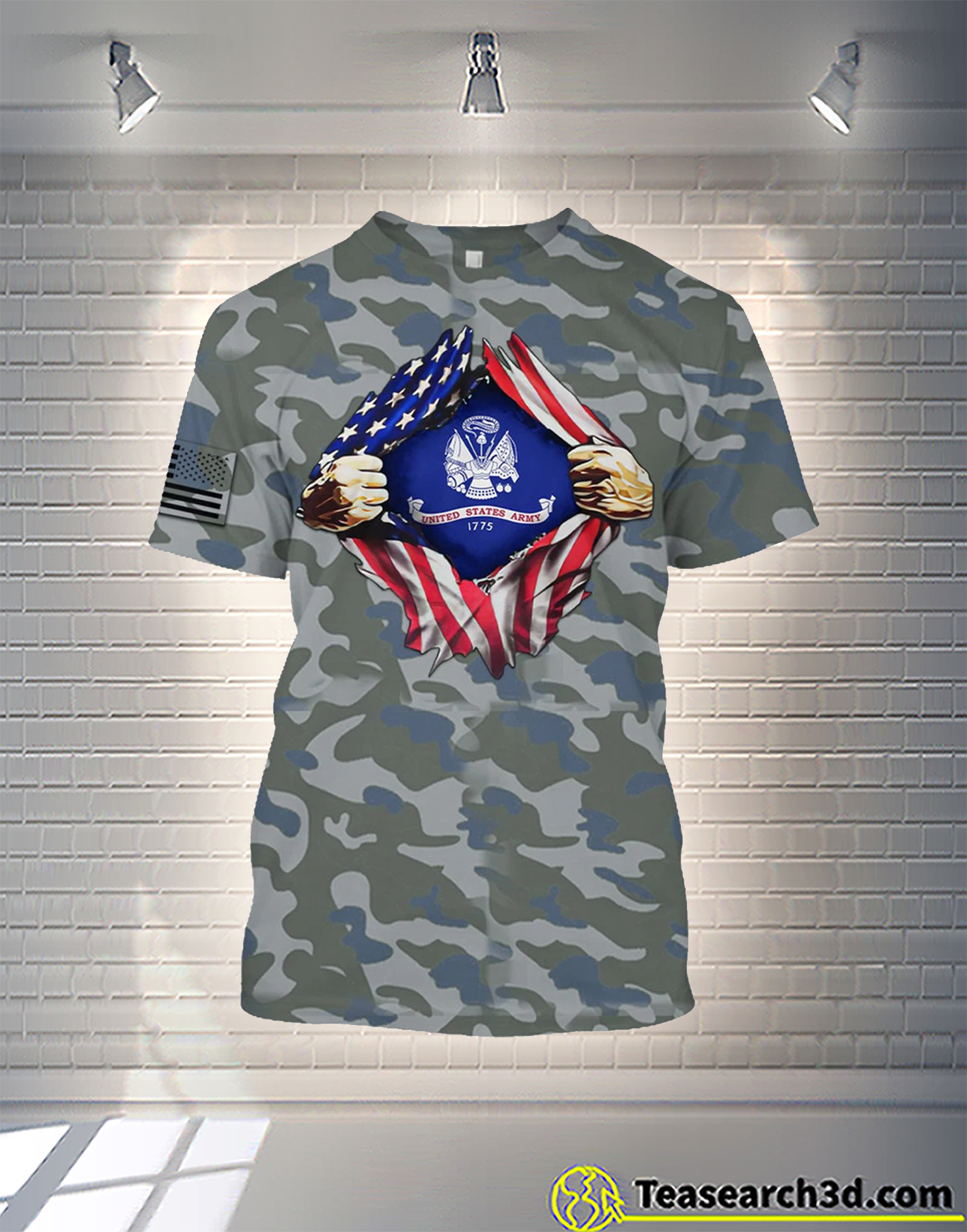 United States Army camo all over printed hoodie
