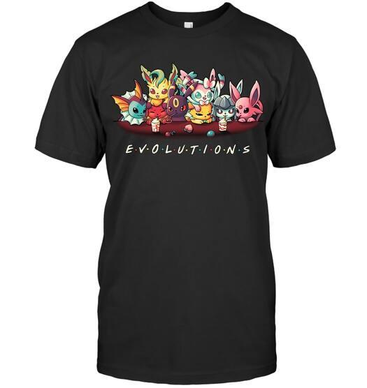 evolution pokemon friends shirt