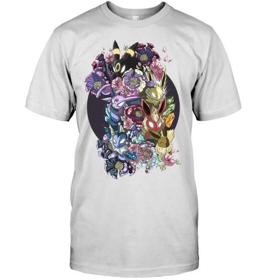 floral eeveelutions pokemon anime shirt