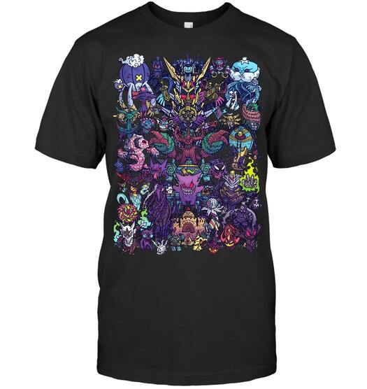 ghost-type evolution pokemon shirt